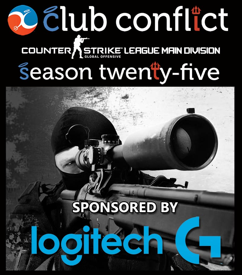 Club Conflict CS:GO League Season 25 Main Division Sponsored by Logitech Gaming