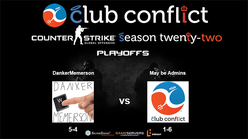Watch Club Conflict Counter-Strike League Quarter-Finals Action Between DankerMemerson and May be Admins