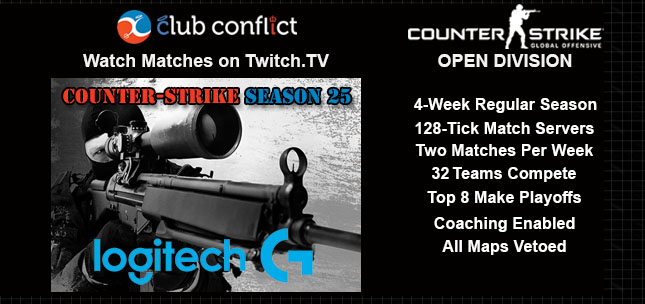Club Conflict Counter-Strike League Open Division Season 25