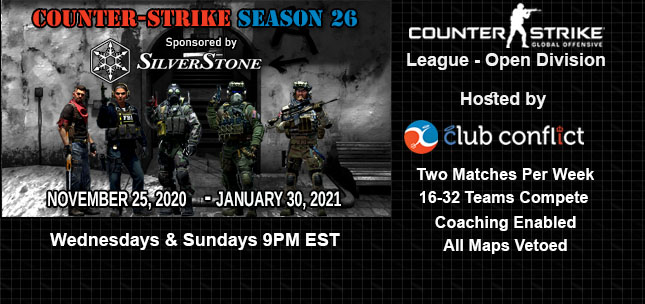 Club Conflict Counter-Strike League Open Division Season 26