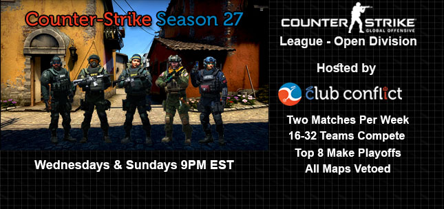 Club Conflict Counter-Strike League Open Division Season 27