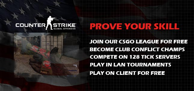 Prove Your Skill at Club Conflict CS:GO League